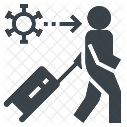 Virus Transmission Glyph Icon