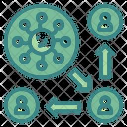Virus Transmission Dualtone Icon