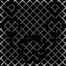 Virus Transmission Line Icon