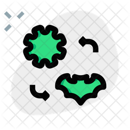 Virus Transmission Colored Outline Icon