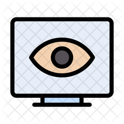 Visible Screen Colored Outline Icon