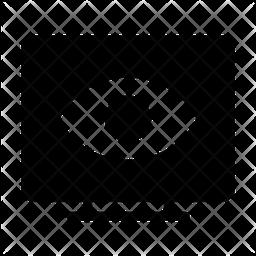 Visible Screen Glyph Icon