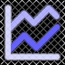 Visualisation graph Flat Icon
