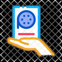 Voice Recorder Colored Outline Icon