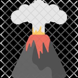 Volcano Flat Icon