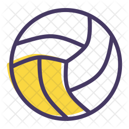 Volleyball Colored Outline Icon