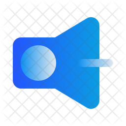Volume Down Gradient Icon