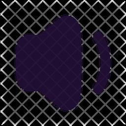Volume Down Glyph Icon