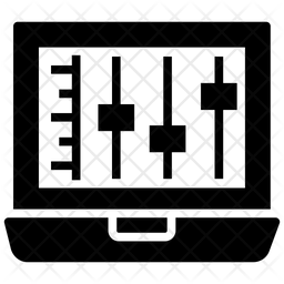 Volume Equalizer Glyph Icon