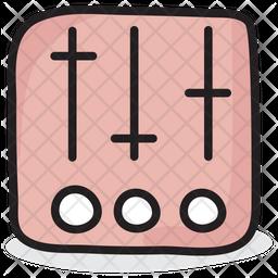 Volume Equalizer Doodle Icon