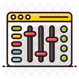 Volume Equalizer Colored Outline Icon