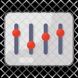Volume Equalizer Flat Icon