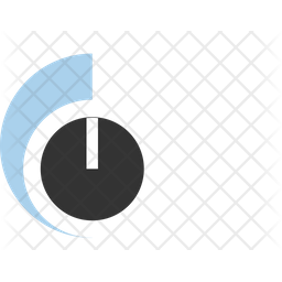 Volume Knob Flat Icon