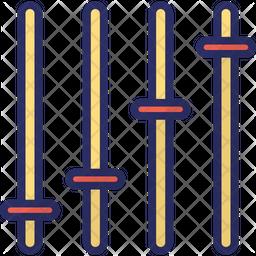 Volume Mixer Colored Outline Icon