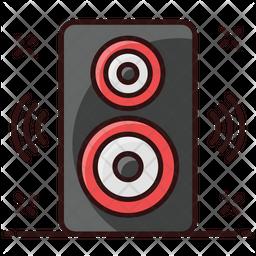 Volume Speaker Colored Outline Icon