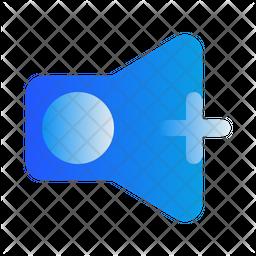 Volume Up Gradient Icon