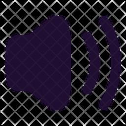 Volume Up Glyph Icon
