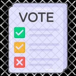 Vote Paper Icon