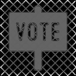 Vote signboard Icon