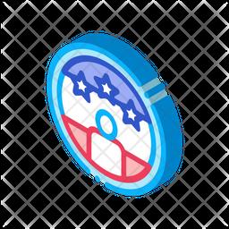 Voter Isometric Icon