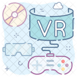 Vr Games Colored Outline Icon