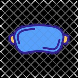 Vr Glasses Colored Outline Icon