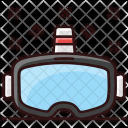 Vr Goggles Colored Outline Icon