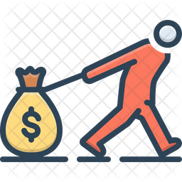 Wage Colored Outline Icon