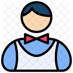 Waiter Colored Outline Icon