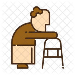 Walk assist Colored Outline Icon