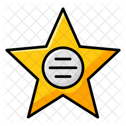 Walk Of Fame Colored Outline Icon