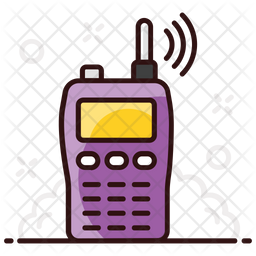 Walkie Talkie Colored Outline Icon