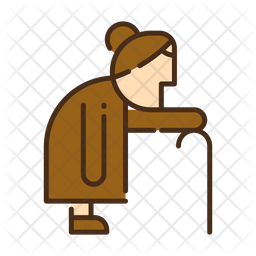 Walking Colored Outline Icon