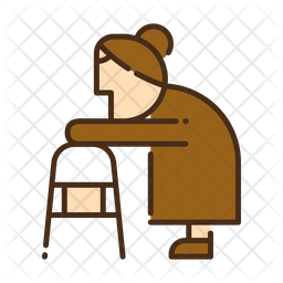 Walking assist Colored Outline Icon