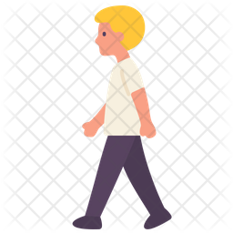 Walking Boy Icon