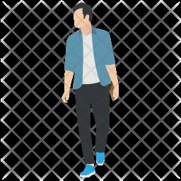 Walking Guy Icon