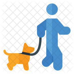 Walking With Dog Icon