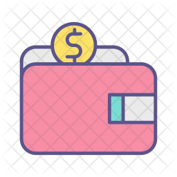 wallet icon of colored outline style available in svg png eps ai icon fonts wallet icon