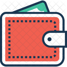 Wallet Colored Outline Icon