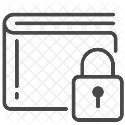 Wallet Lock Line Icon