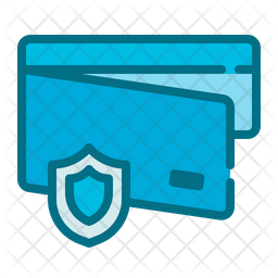 Wallet Security Colored Outline Icon