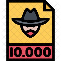 Wanted, Gang, Crime, Mafia, Robber Icon png