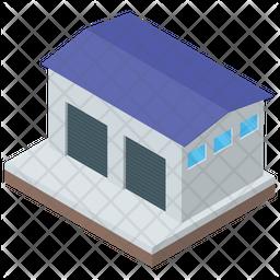 Warehouse Isometric Icon