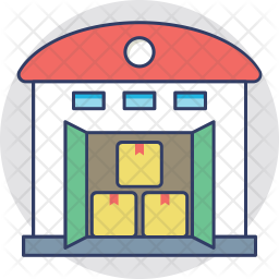 Warehouse Colored Outline Icon