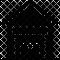Warehouse Glyph Icon
