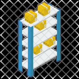 Warehouse Racks Isometric Icon