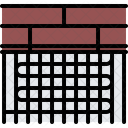 Warm fllor Colored Outline Icon