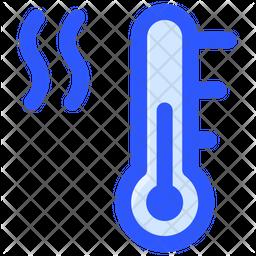 Warm Temperature Colored Outline Icon
