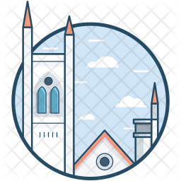 Warrenton First Methodist Colored Outline Icon