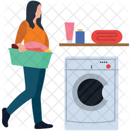 Washing Clothes Icon
